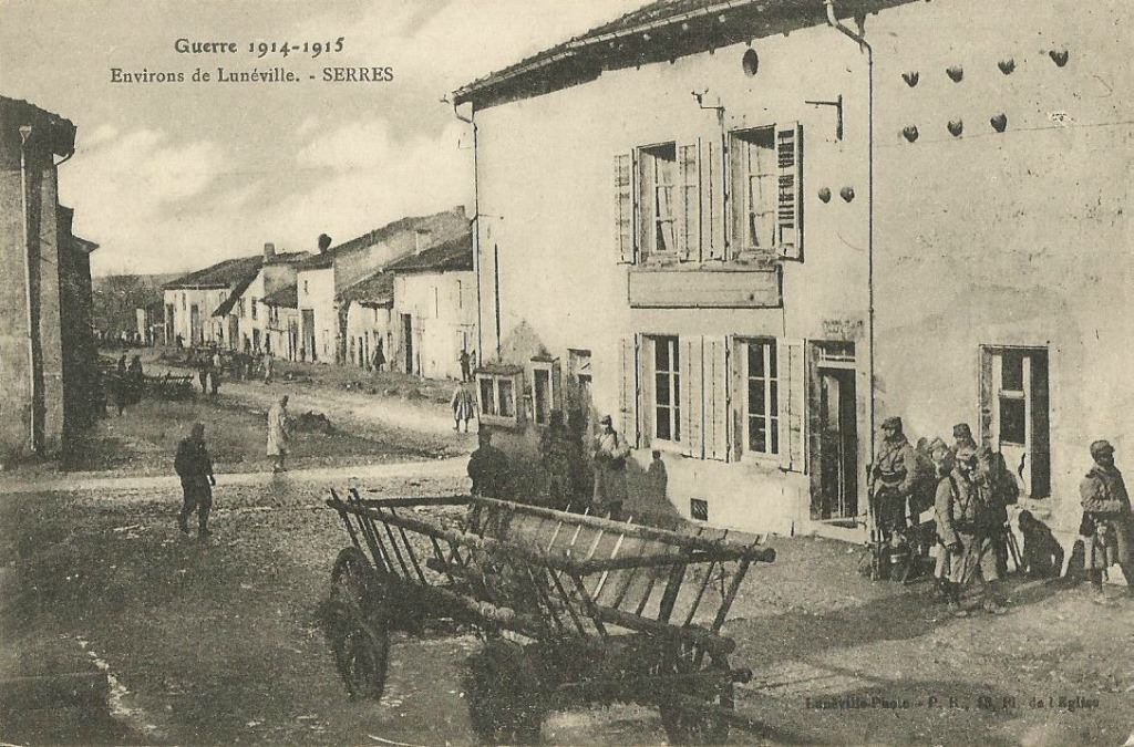 Serres, le village en 1915 - Photo DR